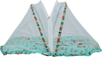 Chhota Bheem Cotton Infants Mosquito Bed Mosquito Net(Green)