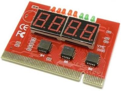 TechGear 4 Digit Debug Card Testing With Manual Motherboard(Red)