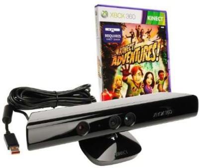 Microsoft New Xbox 360 Kinect + Adventures Bulk  Motion Controller(Black, For Xbox)  available at flipkart for Rs.2649