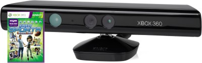 Microsoft Kinect Sensor for Xbox 360 (Free Kinect Sports Season 2)  Motion Controller(Black, For Xbox)  available at flipkart for Rs.4990