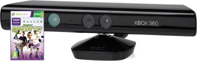 Microsoft Kinect Sensor for Xbox 360 (Free Kinect Sports)  Motion Controller(Black, For Xbox)  available at flipkart for Rs.2789
