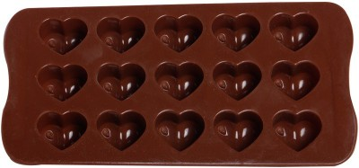 GSL Brown Hearts Silicone Chocolate 15 - Cup Mould(Pack of 1) at flipkart