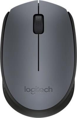 Logitech M-171-GREY/BLACK Wireless Optical Mouse(USB, Grey, Black) at flipkart