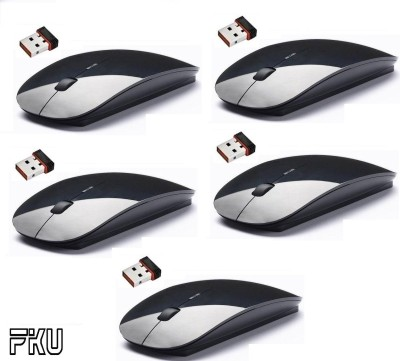 FKU Sets Of 5 Ultra Slim Wireless Optical  Gaming Mouse(USB, Black)