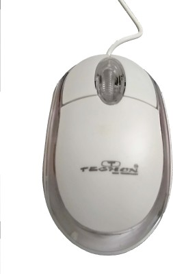 TECHON TO B66 Wired Optical Mouse USB, White