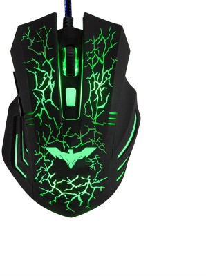 Shrih 7 Different Colors LED Light Wired Optical Gaming Mouse USB, Black