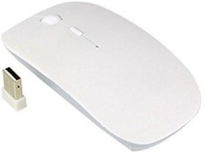 TechGear 2.4Ghz Ultra Slim Wireless Optical Mouse USB, White