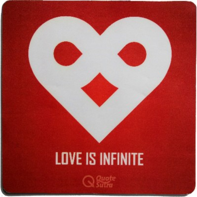 QuoteSutra lOVEInfinite-MP Mousepad(Red)