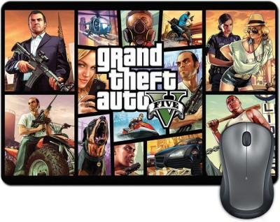 ShopMantra Grand Theft Auto Five Characters Vector Art Mousepad Multicolor