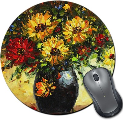 Franklee Flowers Oil Painting Mousepad(Multicolor)  available at flipkart for Rs.175