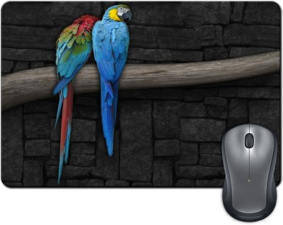 ShopMantra Colorful Parrots on Tree Digital Design Mousepad Multicolor