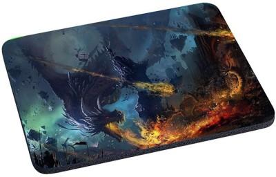 Magic Cases dragon fall fire flame war battle Mousepad(Multicolor) at flipkart
