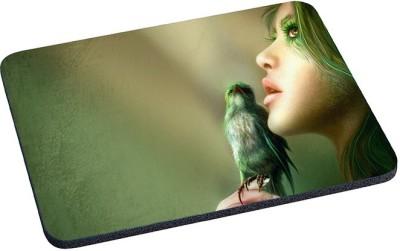Magic Cases girl sight bird hair person Mousepad Multicolor