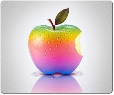 Magic Cases personal smooth cloth + antiskid Laptop apple Famous Brand Logo Mousepad(Multicolor) at flipkart