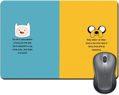 ShopMantra You Don't Need a Mirror Cartoon Minimal Design Mousepad Multicolor