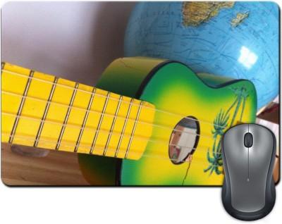 ShopMantra Colorful Guitar on Table Mousepad Multicolor