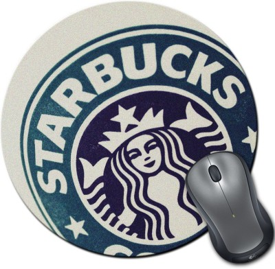 Rangeele Inkers Starbucks Tumblr Round Mousepad Multicolor