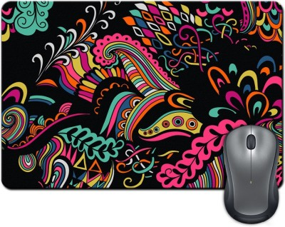 ShopMantra Colored Abstract Shapes Illustration Mousepad Multicolor
