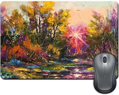 ShopMantra Abstract Nature Digital Design Mousepad Multicolor