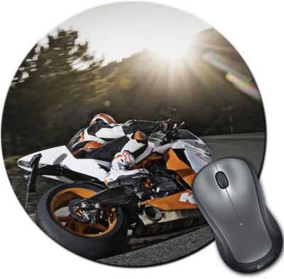 Franklee Biker On Ride Mousepad(Multicolor)  available at flipkart for Rs.175