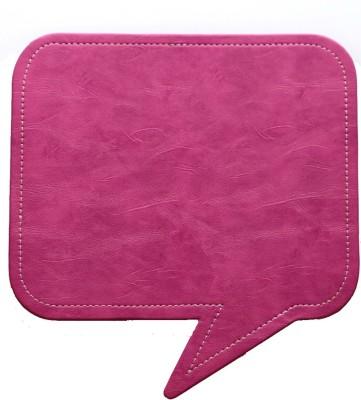 Random in Tandem Speech Bubble Pink Mousepad(Pink)