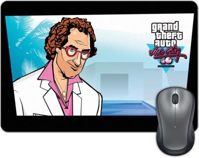 ShopMantra Grand Theft Auto Vice City Vector Artwork Mousepad Multicolor