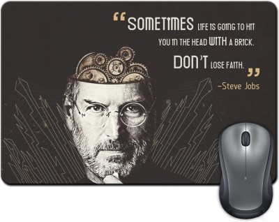 ShopMantra Sometimes Life Is Going To Hit Quote By Steve Jobs Mousepad Multicolor