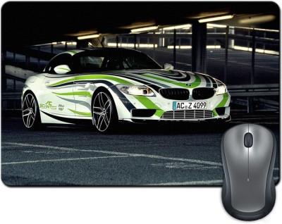 ShopMantra Racing car Mousepad Multicolor