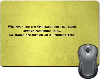 ShopMantra No Stones are Thrown on Fruitless Tree Quote Mousepad Multicolor