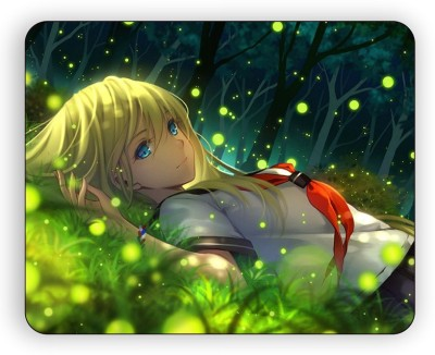 Magic Cases girl Anime grass lying art High Quality Printing MousePad Design 1515 Mousepad(Multicolor) at flipkart