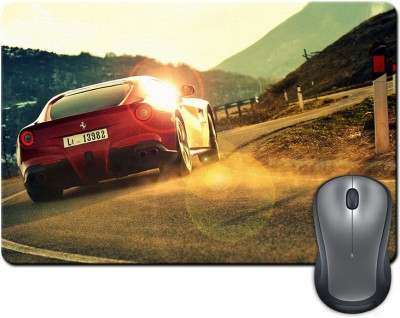 Rangeele Inkers Ferrari Racing Car Mousepad(Multicolor)  available at flipkart for Rs.175