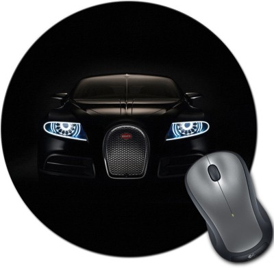Franklee Bugatti Black Car Mousepad(Multicolor)