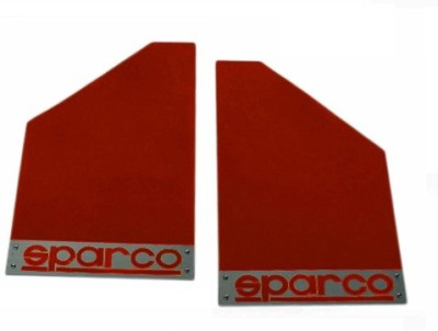 Sparco Cars Front Mud Guard, Rear Mud Guard For Chevrolet Captiva 2015(Red)