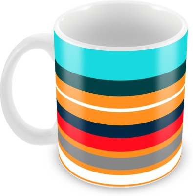 Tuelip Beautiful Abstract Multiple Colour Printed For Tea And Coffee Ceramic Mug(350 ml) at flipkart