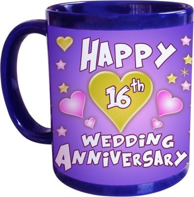 16th Wedding Anniversary.Sajawathomes 16th Wedding Anniversary Coffee Ceramic Mug 350 Ml