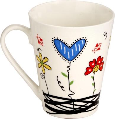 Somil Somil White Quite Baby Painting Milk Cup Set Of 1 Ceramic Mug(250 ml)