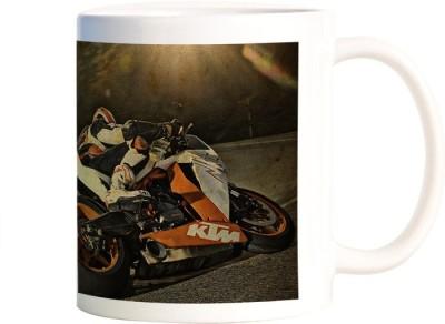 Rangeele Inkers Biker On Ride Ceramic Mug(300 ml)  available at flipkart for Rs.224