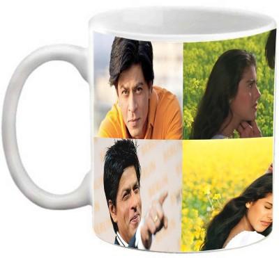 EFW Shahrukh Khan - Kajol (Series 2) Printed Coffee Ceramic Mug(325 ml)