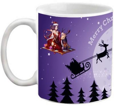 EFW Merry Christmas Happy New Year Printed Coffee Efwmu0100106 Ceramic Mug(325 ml)