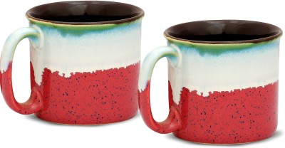 Caffeine Pink Maggies Ceramic Mug(350 ml, Pack of 2) at flipkart