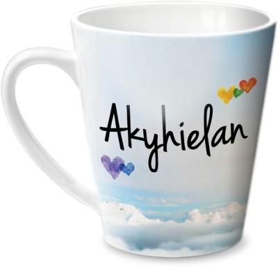 Hot Muggs Simply Love You Akyhielan Conical Ceramic Mug(350 ml) at flipkart