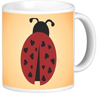 Rikki Knight LLC Knight Photo Quality Ceramic Coffee, 11 oz, Ladybug Ceramic Mug(60 ml) at flipkart