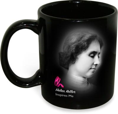 Hot Muggs Helen Keller - Life is Either a Great Ceramic Mug(350 ml) at flipkart