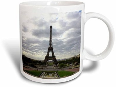 3dRose The Eiffel Tower Itself on A Cloudy Day in one of A Kind Paris Ceramic, 15 oz, White Ceramic Mug(60 ml) at flipkart