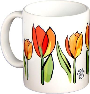 Tantra Tulip Ceramic Mug(325 ml) at flipkart