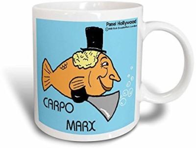 3dRose Carpo Marx Ceramic, 15 oz, White Ceramic Mug(60 ml) at flipkart