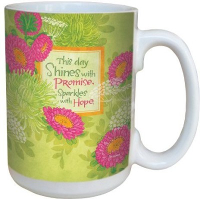 Tree-Free Greetings Greetings lm43468 Uplifting Mums of Promise by Robin Pickens Ceramic with Full-Sized Handle, 15-Ounce Ceramic Mug(60 ml) at flipkart