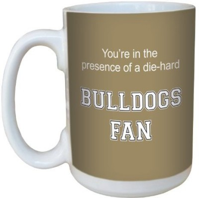 Tree-Free Greetings Greetings lm44397 Bulldogs College Football Fan Ceramic with Full-Sized Handle, 15-Ounce Ceramic Mug(60 ml) at flipkart