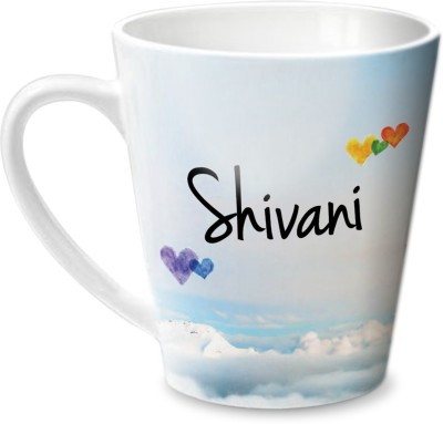 Hot Muggs Simply Love You Shivani Conical Ceramic Mug(315 ml)