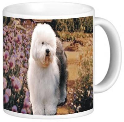 Rikki Knight LLC Knight Photo Quality Ceramic Coffee, 11 oz, Old English Sheepdog Ceramic Mug(60 ml)